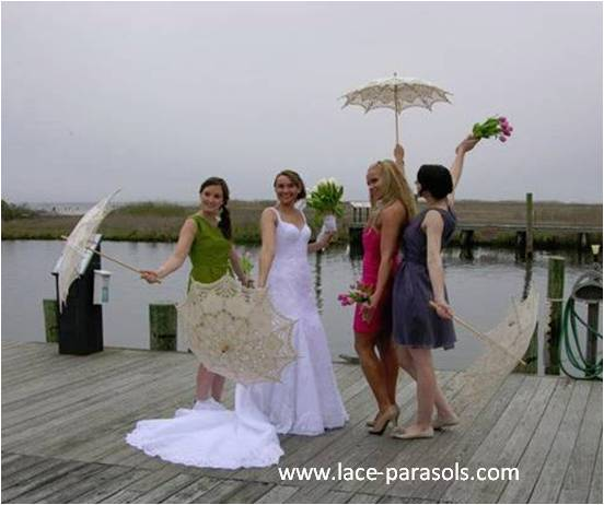 bridal parasols for wedding party